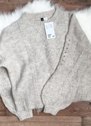 Теплый свитер h&m, джемпер, пуловер, худи, свитшот, кофта
