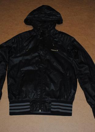 Adidas куртка ветровка черная