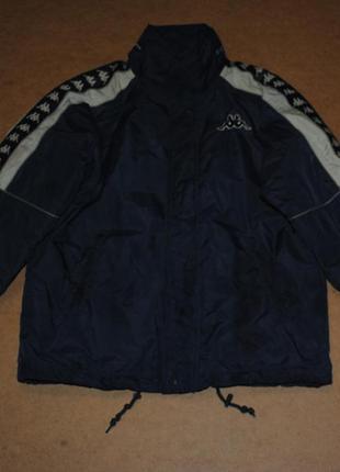 Kappa теплая куртка с лампасами