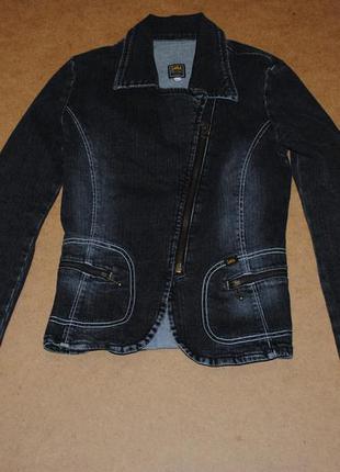Джинсовая косуха джинсовка женская