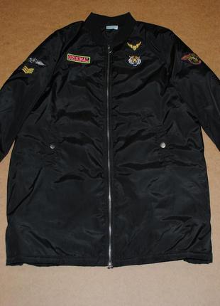 Бомбер удлиненный мужской американка клубная куртка