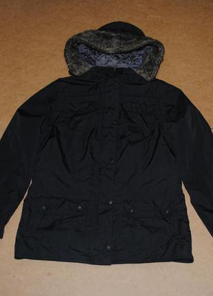 Barbour теплая женская куртка парка зима  мехом