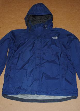 The north face мужская куртка штормовка tnf синего цвета