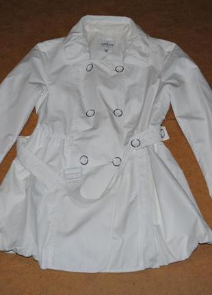 Armani collezioni женское пальто плащ армани белое