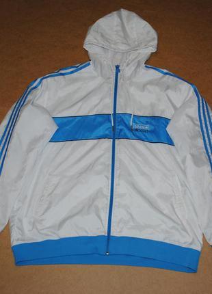 Adidas белая куртка ветровка адидас