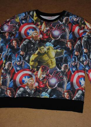 Marvel мужской свитшот кофта