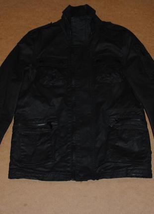 Superdry black фирменная мужская черная куртка редкая