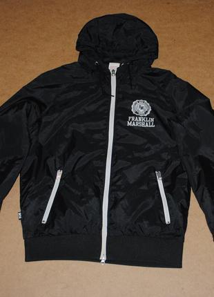 Franklin & marshall куртка ветровка мужская черная