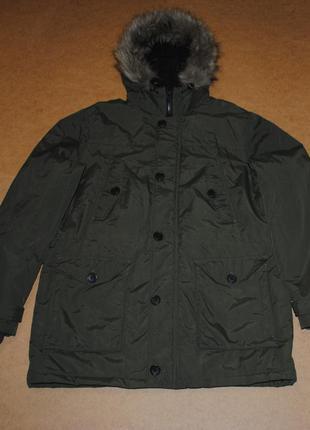 F&f теплая парка куртка зима с мехом