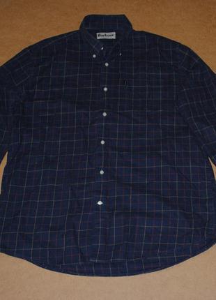 Barbour рубашка мужская синего цвета