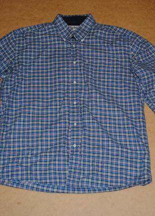 Barbour рубашка мужская голубая оригинал