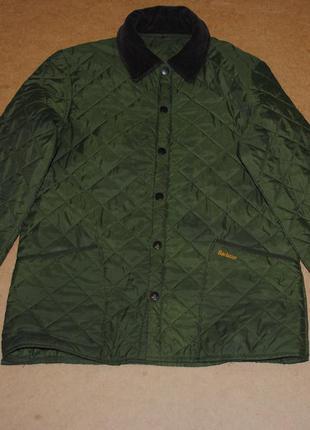 Barbour мужская стеганая куртка барбур зеленая