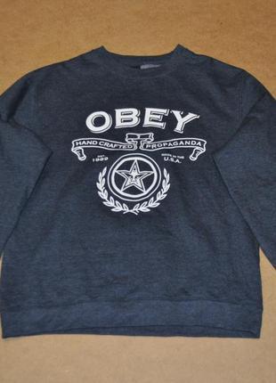 Obey мужской свитшо кофта оригинал обей