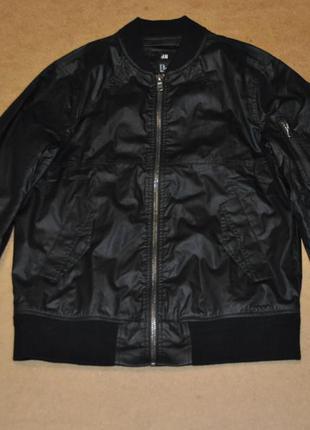 H&m black черный мужской бомбер куртка