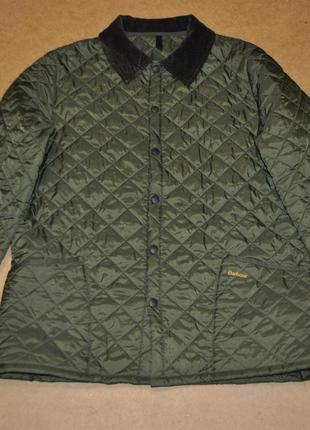 Barbour стеганая мужская куртка зеленая