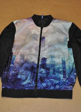 Devided h&m яркий мужской бомбер куртка