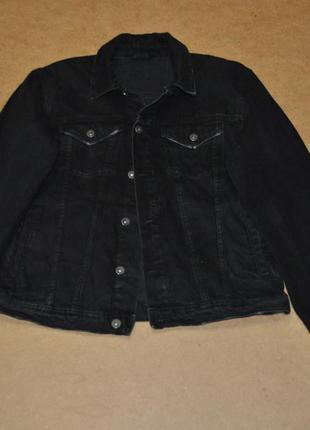 Denim черная мужская джинсовка джинсовая куртка black