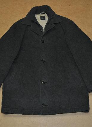 Hugo boss пальто мужское босс