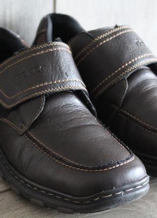 Легкие и удобные туфли на липучке rieker 45-46