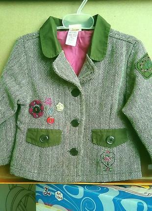 Пиджак для малышки mini mode 80-86cm