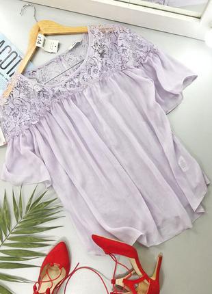 Воздушная блуза с кружевными вставками george