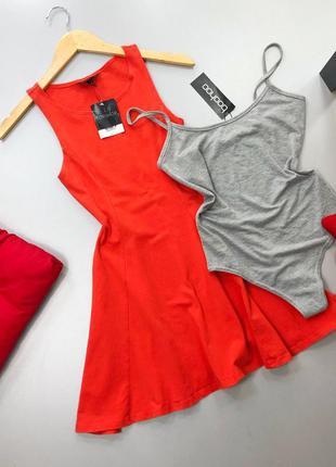 Красное платье скейтер topshop