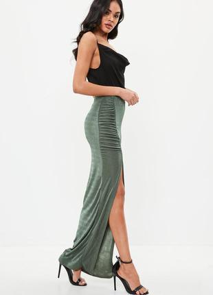 🔥 total sale 🔥роскошная юбка макси с разрезом missguided ms129