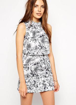 Стильное платье с топом винтаж в цветочный принт lavish alice