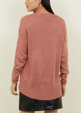 🔥 total sale 🔥актуальный свитерок пыльно-розового цвета с удли...