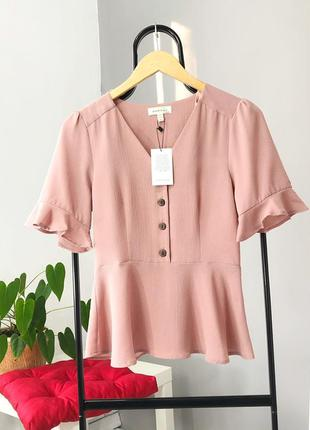 🔥 total sale 🔥нежная блуза с рюшами на пуговицах monteau