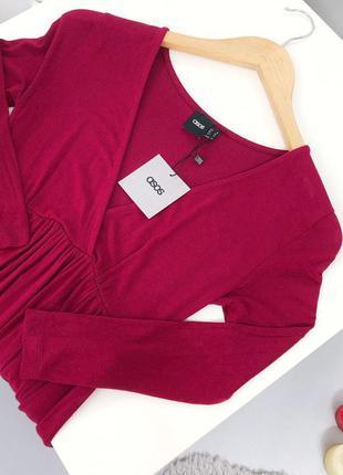 🔥 total sale 🔥трикотажное платье миди на запах asos