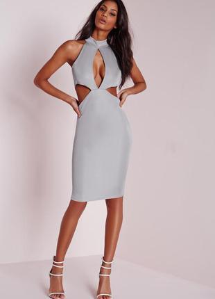 🔥 total sale 🔥стильное платье миди с вырезами missguided ms928