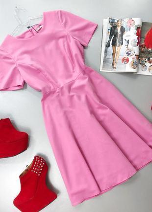 Стильное платье миди в стиле винтаж розовое tu