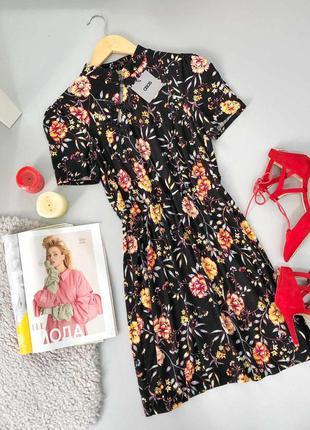 🔥 total sale 🔥винтажное чайное платье в цветочный принт asos