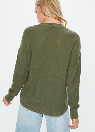 Z111 оверсайз свитер хаки missguided ms620