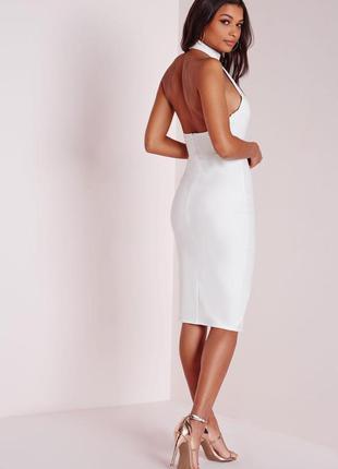 Cтильное платье миди с чокером и разрезами missguided ms702