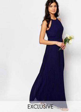 Роскошное плиссированное платье макси с завышенной талией tfnc...