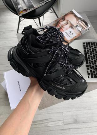 Balenciaga track trainers black шикарные женские кроссовки бал...