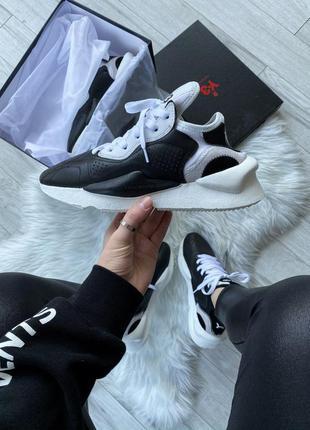 Adidas y-3 kaiwa black white шикарные женские кроссовки адидас...