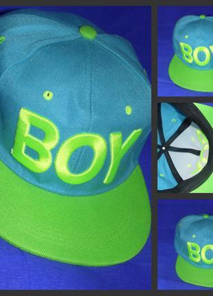 Кепка boy girl цвет: салатовый+голубой