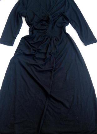 Платье миди 48 50 размер офисное бюстье нарядное с рукавом 8 м...