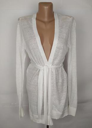 Блуза накидка шикарная белая плиссе armani exchange uk 8/36/xs