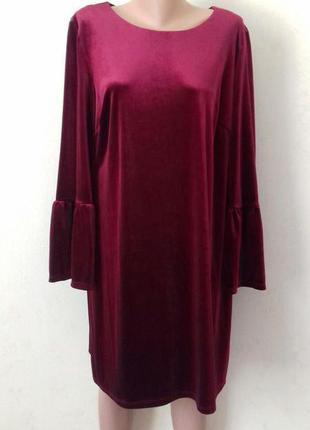 Красивое нарядное велюровое платье george