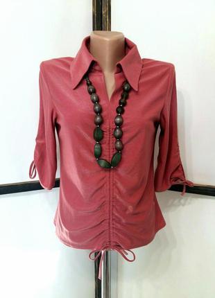 Винтажная нарядная блуза блузка кофточка блузон с кулисками др...
