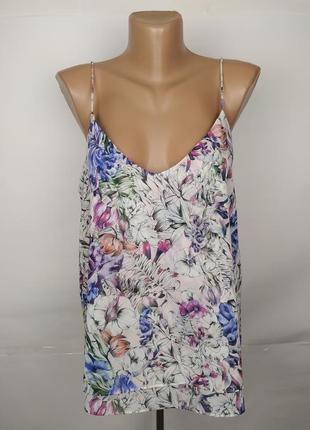 Блуза новая цветочная двухслойная h&m uk 12/40/m
