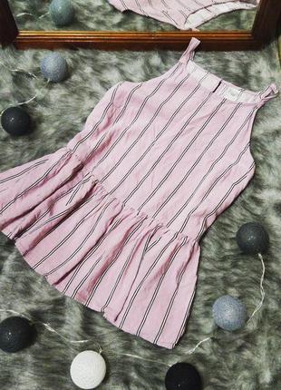 Блуза в полоску из натуральной вискозы