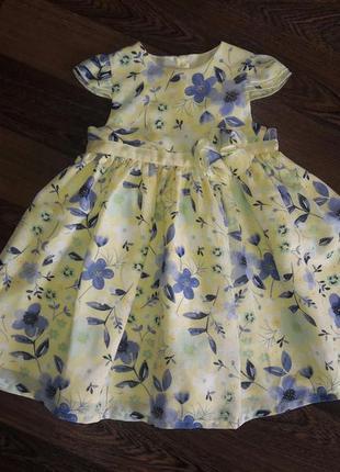 Платье нарядное , воздушное на 2 года с нежным цветочным принтом