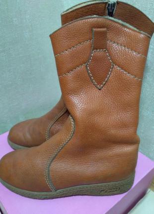 Сапоги немецкие зимние утепленные кожаные