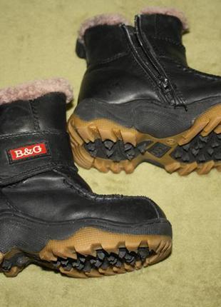 Кожаные зимние детские ботиночки, 24 размер