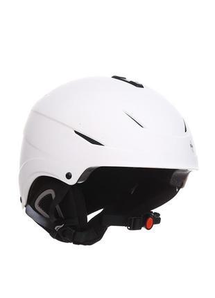 Горнолыжный белый шлем crivit, размер l/xl